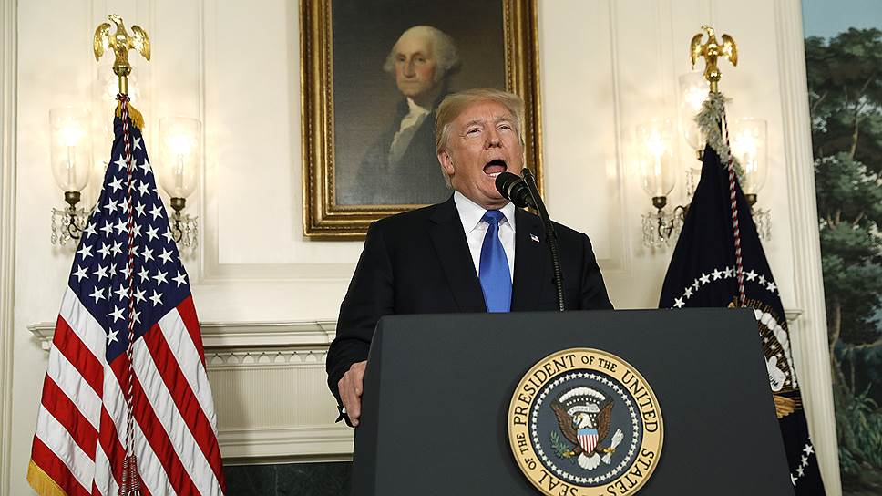 Дональд Трамп не стал объявлять о выходе США из соглашения по ядерной программе Ирана, но такую возможность не исключил