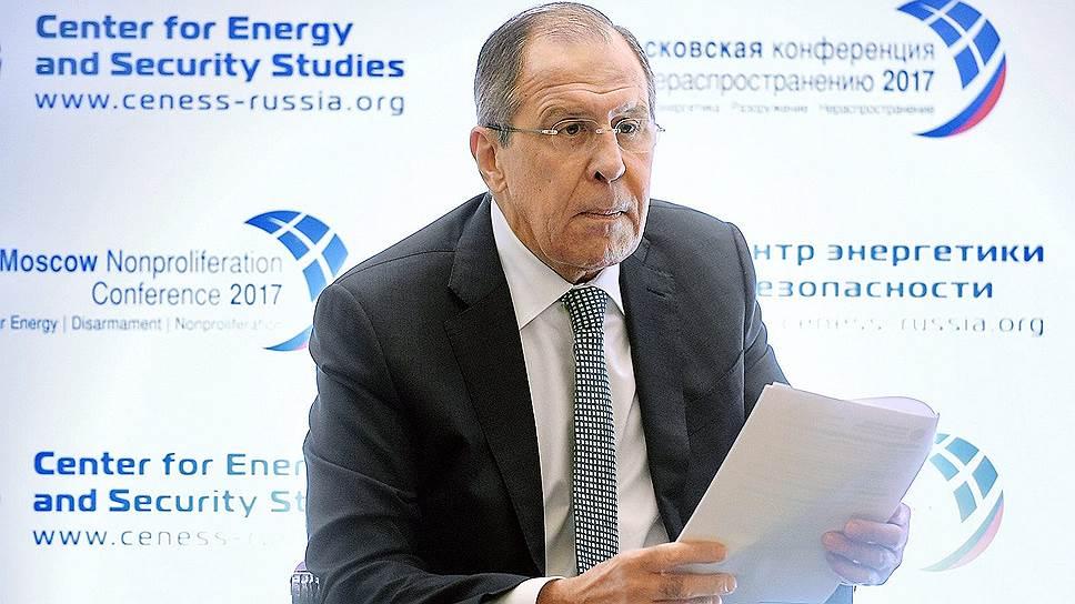 Главе МИД РФ Сергею Лаврову не пришлось долго искать виновных в кризисе системы международной безопасности