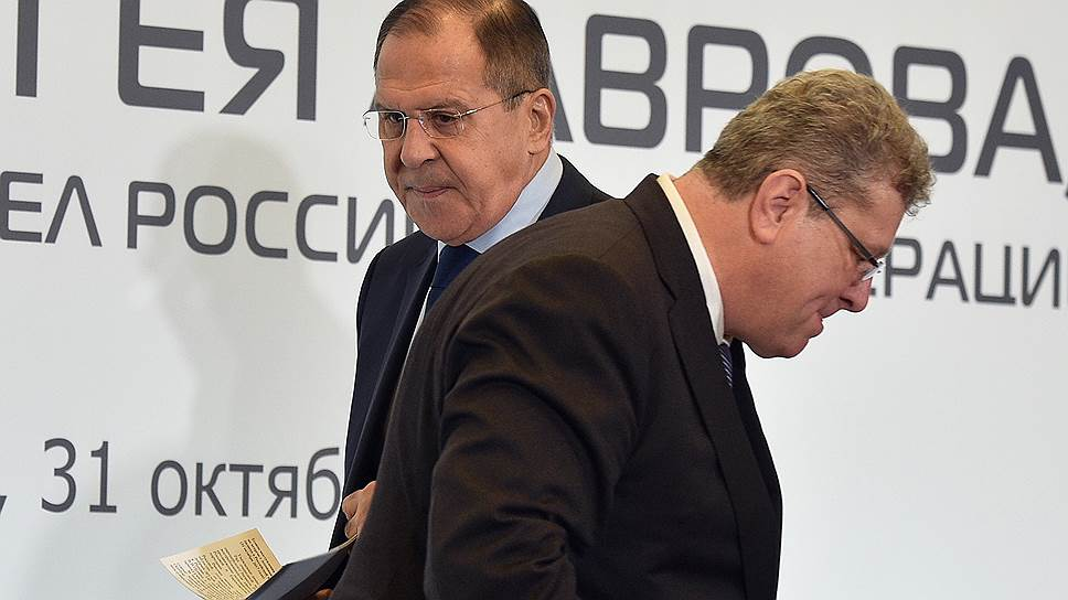 Глава МИД РФ Сергей Лавров и председатель правления Ассоциации европейского бизнеса Томас Штерцель обсудили не только деловые вопросы