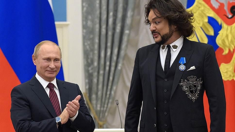 Филиппу Киркорову было за что поблагодарить Владимира Путина и до вручения ордена Почета