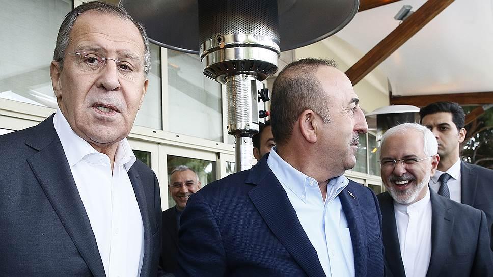 Как прошла встреча министров иностранных дел России, Турции и Ирана