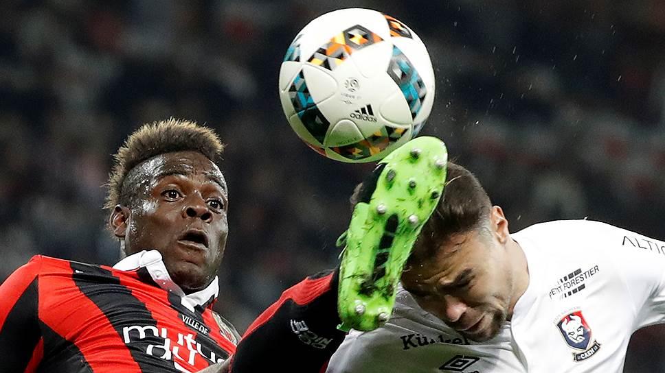Много забивающий в нынешнем сезоне Марио Балотелли (слева) — самый опасный игрок в составе «Ниццы», доставшейся «Локомотиву» в первом раунде play-off Лиги Европы