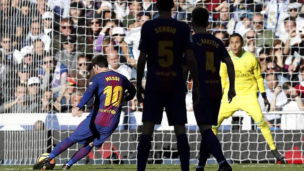 Гол в ворота «Реала» стал для лидера «Барселоны» Лионеля Месси (№10) 15-м в нынешнем чемпионате Испании. Он уверенно лидирует в споре бомбардиров, на четыре мяча опережая форварда «Сельты» Яго Аспаса