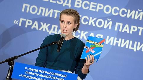 Ксению Собчак выдвинули на съезде // А Алексея Навального  на пляже