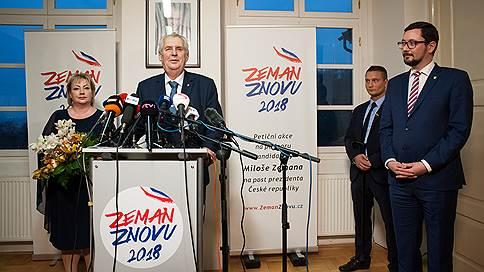 Чешский президент выиграл в первом туре, но рискует проиграть во втором // Борьба за власть