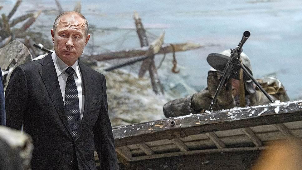В окопе трехмерной панорамы «Прорыв» Владимир Путин чувствовал себя как просто в окопе
