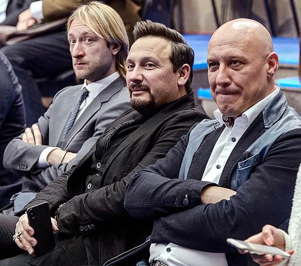 Фигурист Евгений Плющенко и певцы Стас Михайлов и Денис Майданов доверяют Владимиру Путину и наоборот