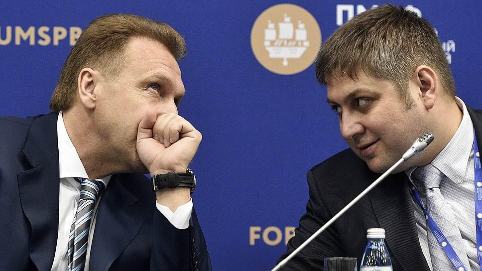 Заместитель главы Минэкономики Олег Фомичев (справа) по поручению первого вице-премьера Игоря Шувалова зафиксировал новую концепцию регулирования делового климата в РФ