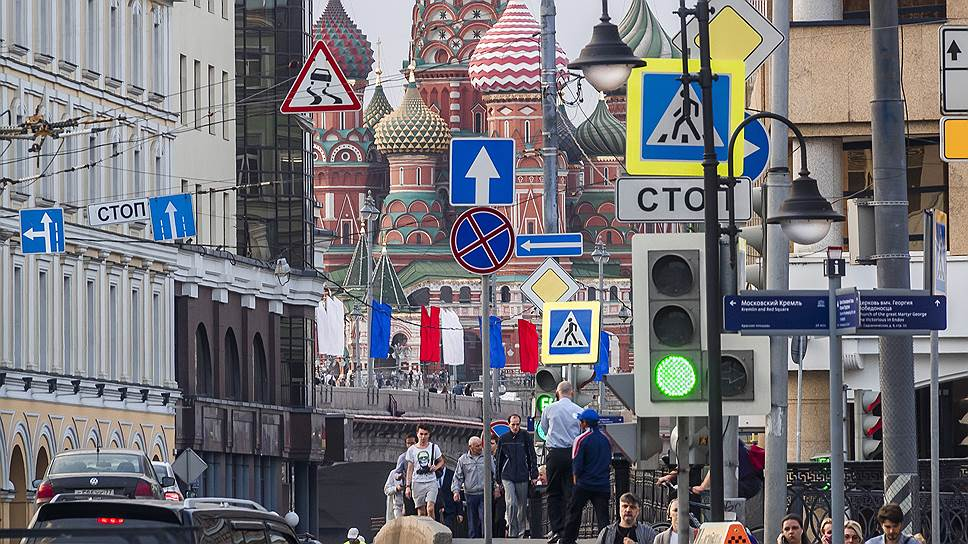 Московским перекресткам добавят знаков
