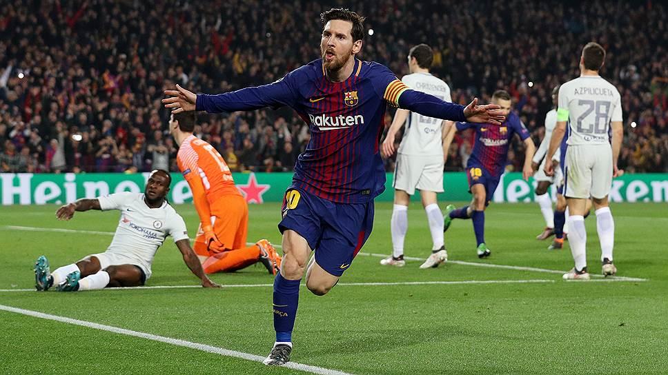 Забив два мяча в ворота «Челси», Лионель Месси довел число своих голов в Лиге чемпионов до 100