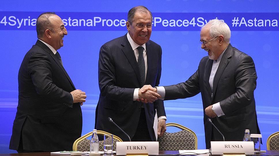 Как Сергей Лавров обсудил сирийский конфликт с коллегами из Ирана и Турции