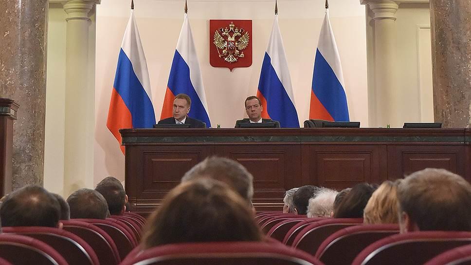 На расширенном заседании коллегии Минфина члены уходящего правительства думали о будущем