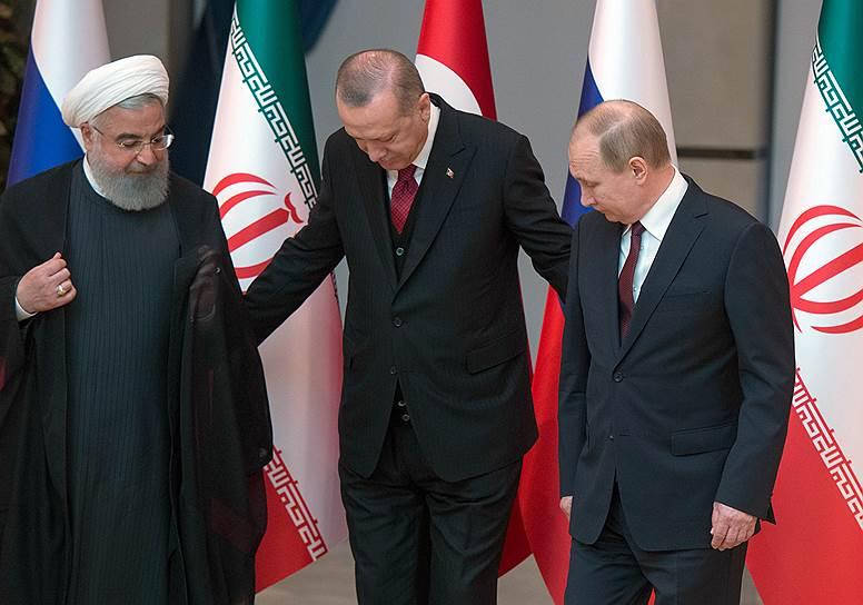 На встрече в Анкаре президенты Ирана, Турции и России сосредоточились на Сирии