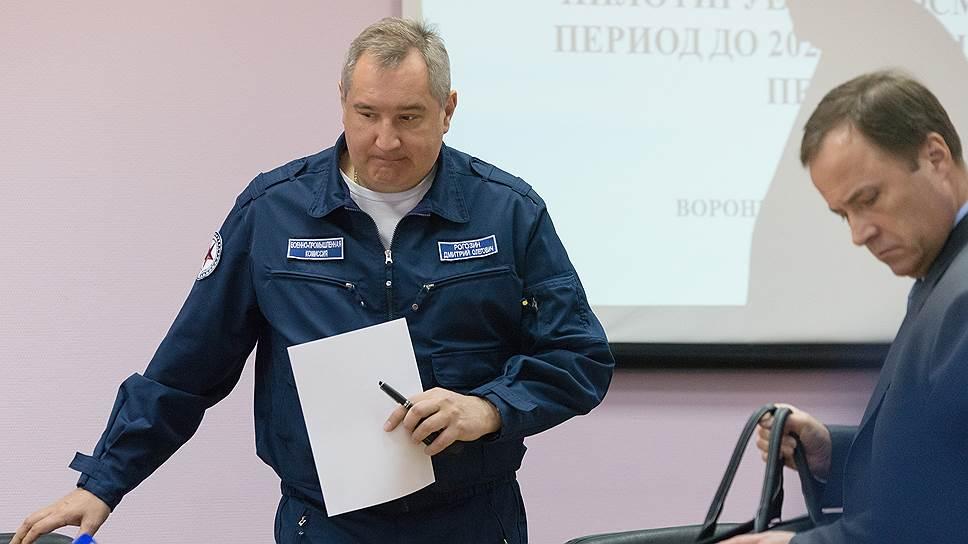 Дмитрий Рогозин (слева) и Игорь Комаров по-разному оценили вклад «Роскосмоса» в создание окололунной станции Deep Space