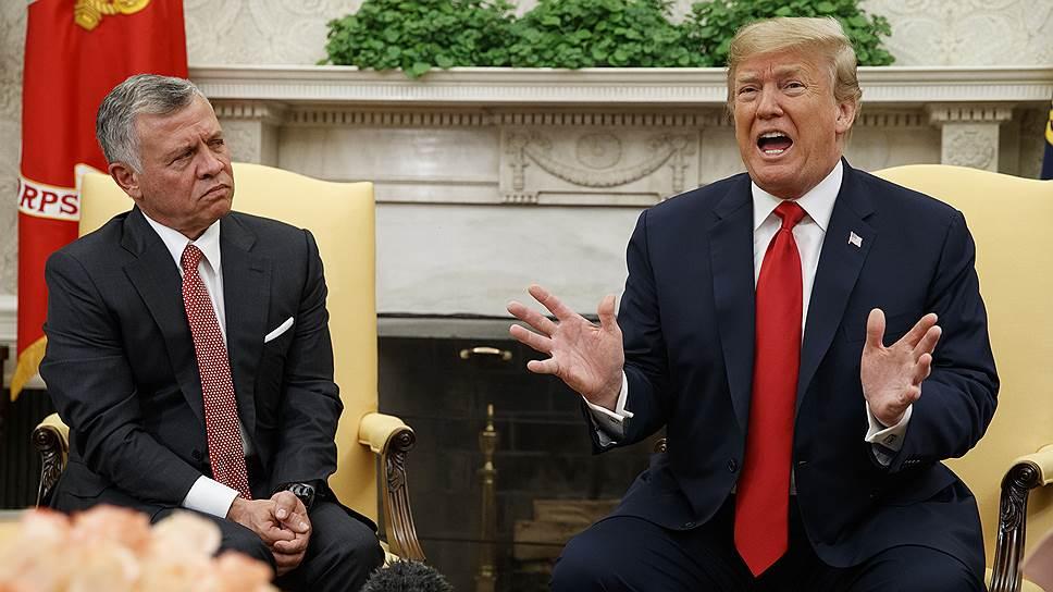 Король Иордании Абдалла II (слева) и президент США Дональд Трамп