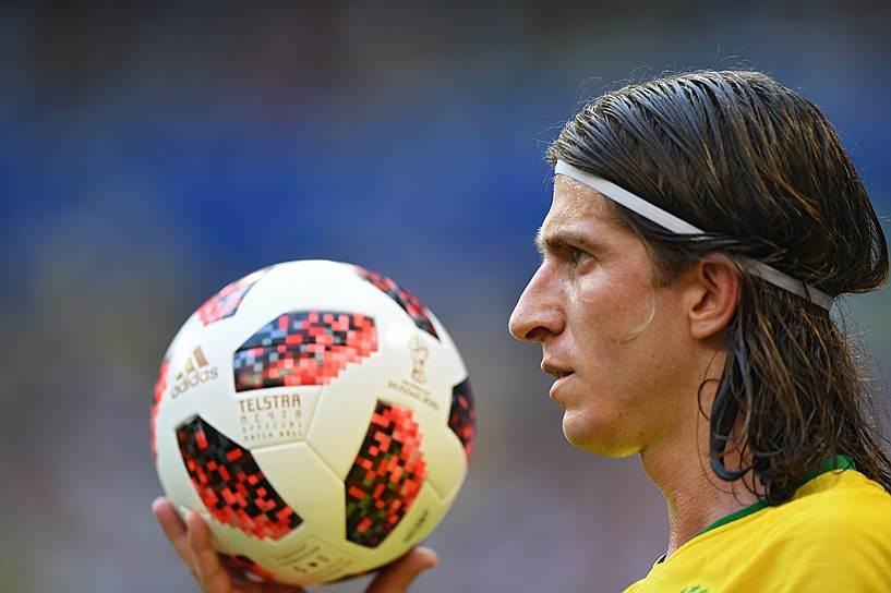 Игрок сборной Бразилии Филипе Луис