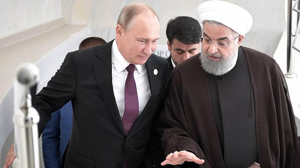 Президенты России и Ирана Владимир Путин (слева) и Хасан Роухани (справа) воспользовались случаем и помимо Каспия обсудили ситуацию в Сирии и поведение США