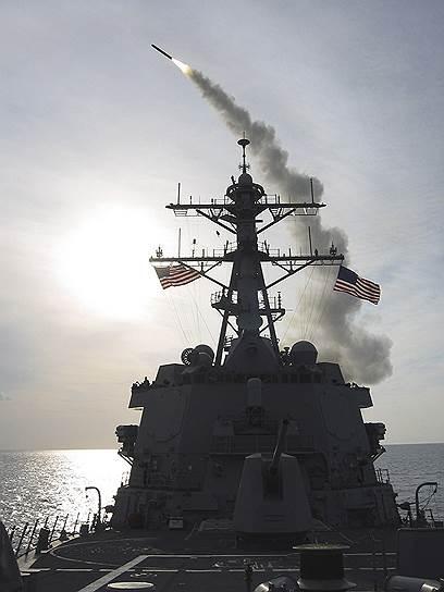 США нацелили на Сирию более 100 крылатых ракет, размещенных на бомбардировщиках и кораблях ВМС