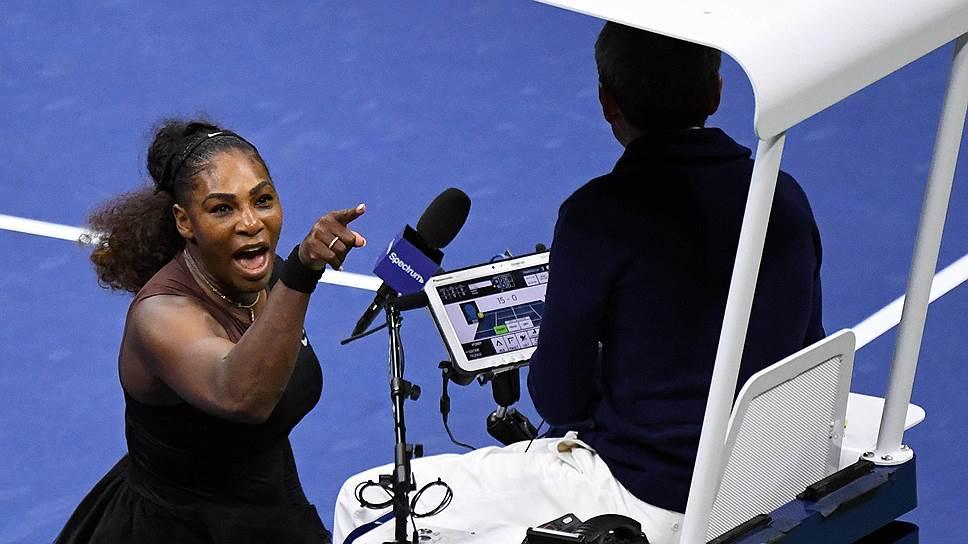Бесконечные выпады Серены Уильямс в адрес арбитра превратили финал US Open в один из самых скандальных матчей в истории тенниса