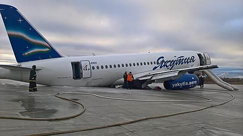 Якутия поскользнулась на SSJ 100 // Работу авиакомпании могут ограничить