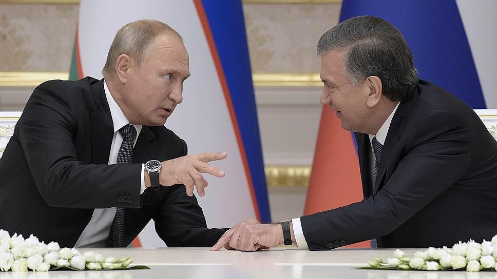 Владимир Путин и Шавкат Мирзиёев радовались дню, проведенному вместе