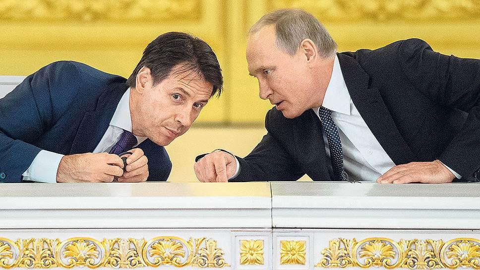 Борьба за мир во всем Риме / Как Владимир Путин и Джузеппе Конте разворачивали новое антивоенное движение в Европе