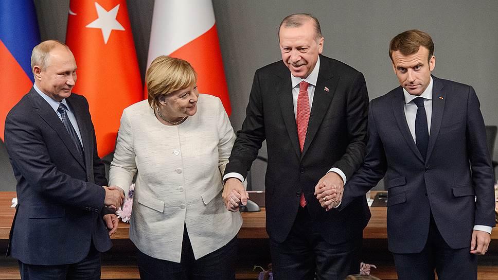 Как лидеры РФ, Германии, Франции и Турции обсуждали Сирию на саммите в Стамбуле