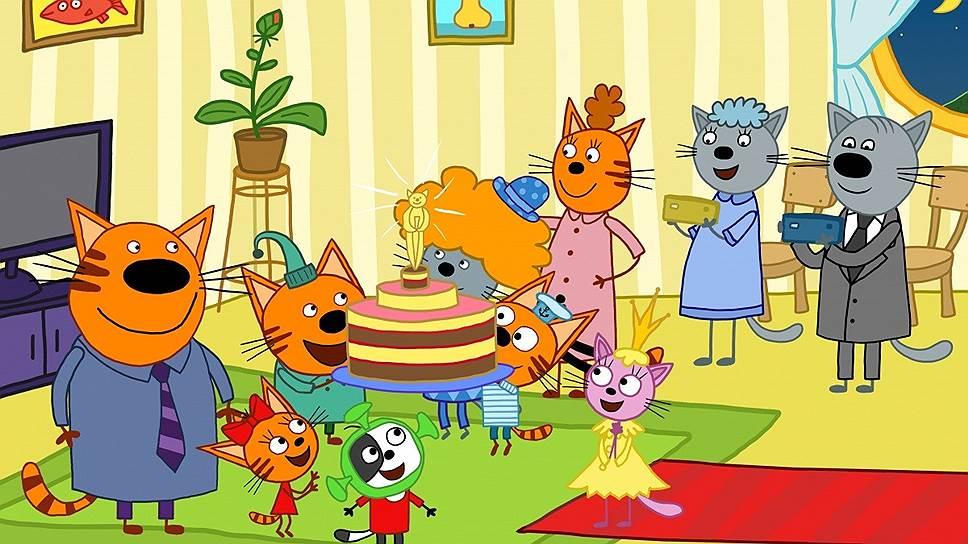 Кадр из мультфильма «Три кота»