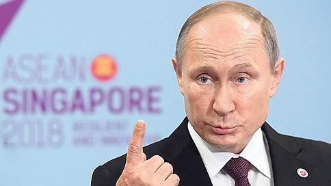 Рояль в устах // Как много пришлось говорить Владимиру Путину в его последний день в Сингапуре
