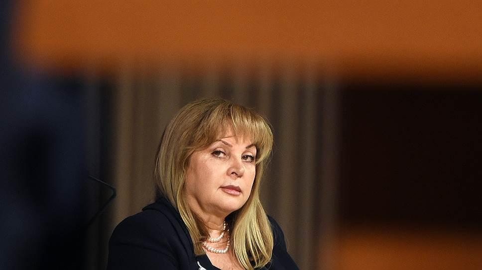 Элла Памфилова доверяет судьбу муниципального фильтра «политическому руководству страны»