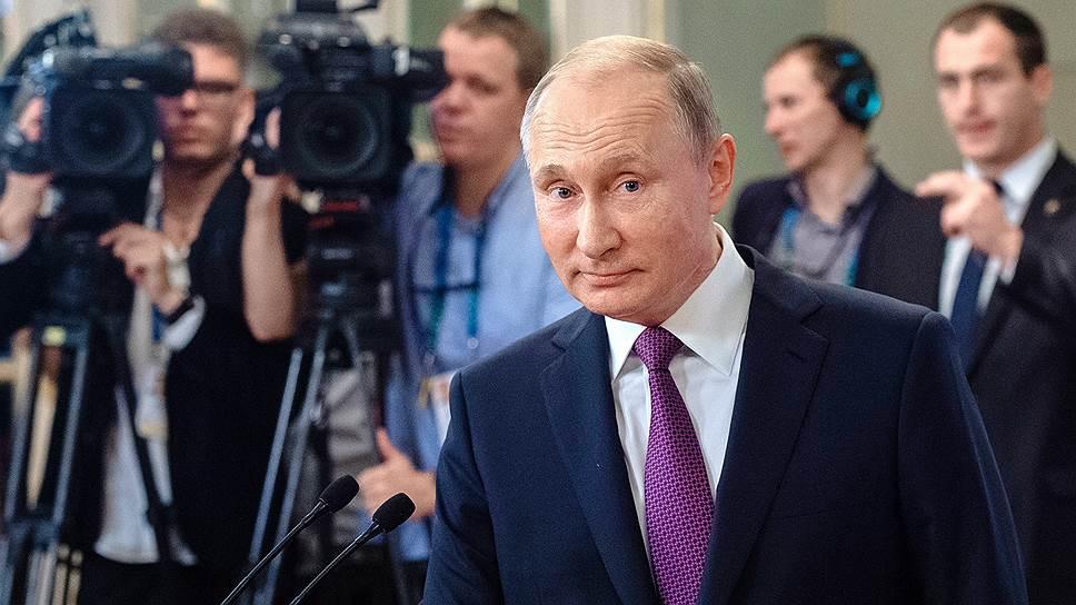 На пресс-конференции в Буэнос-Айресе Владимира Путина интересовали не только вопросы журналистов, но и они сами