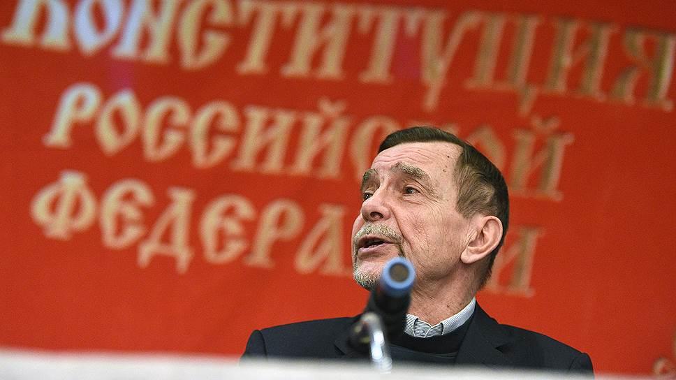 Председатель правозащитного движения «За права человека» Лев Пономарев