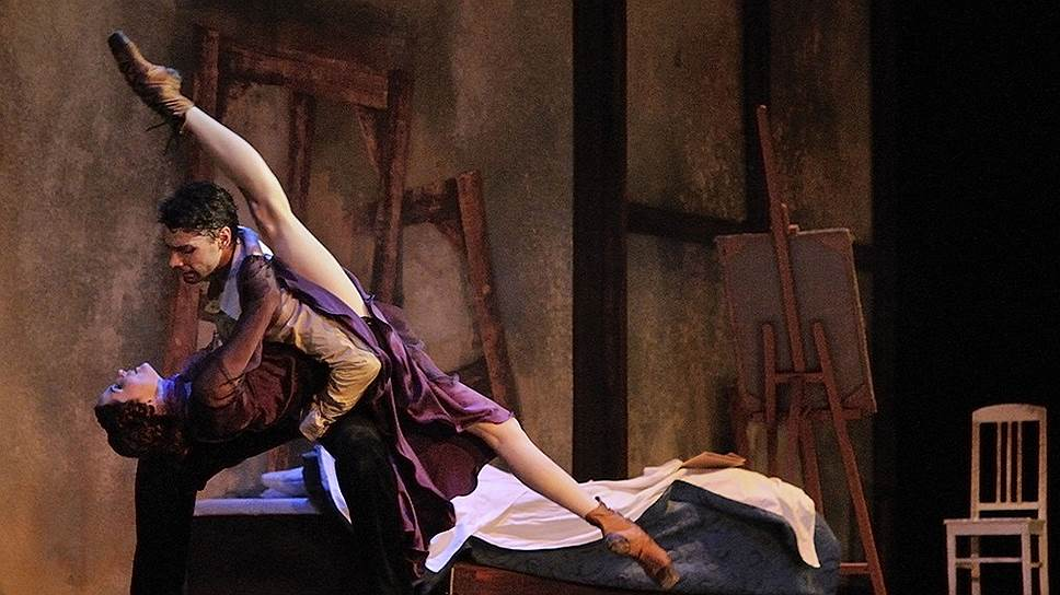 Любовь Модильяни (Анатолий Архангельский) к Жанне (Алена Шкатула) отличалась положительной прямолинейностью только в первом адажио