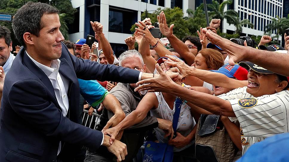 Самопровозглашенный временный президент Венесуэлы Хуан Гуаидо