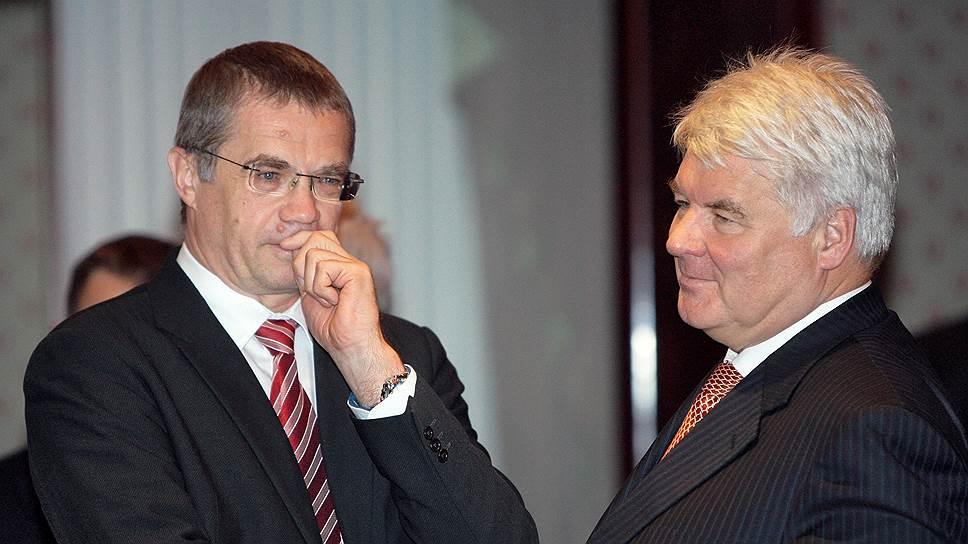 Александр Медведев (слева) и Валерий Голубев освободят свои места в правлении «Газпрома»