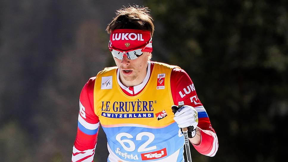 Александр Бессмертных (на фото) уступил победителю гонки на 15 км классическим стилем Мартину Йонсруду Суннбю всего 2,9 сек.