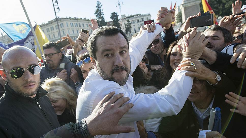 Итальянская «Лига» во главе с Маттео Сальвини (на фото) станет одной из партий, популярность которой будет способствовать успеху евроскептиков на выборах в Европарламент