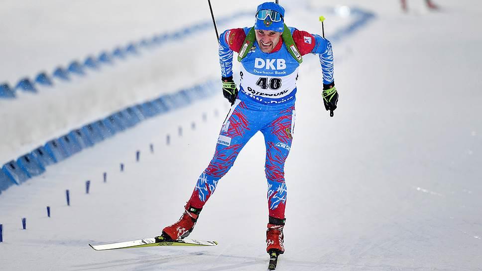 Российский биатлонист Евгений Гараничев