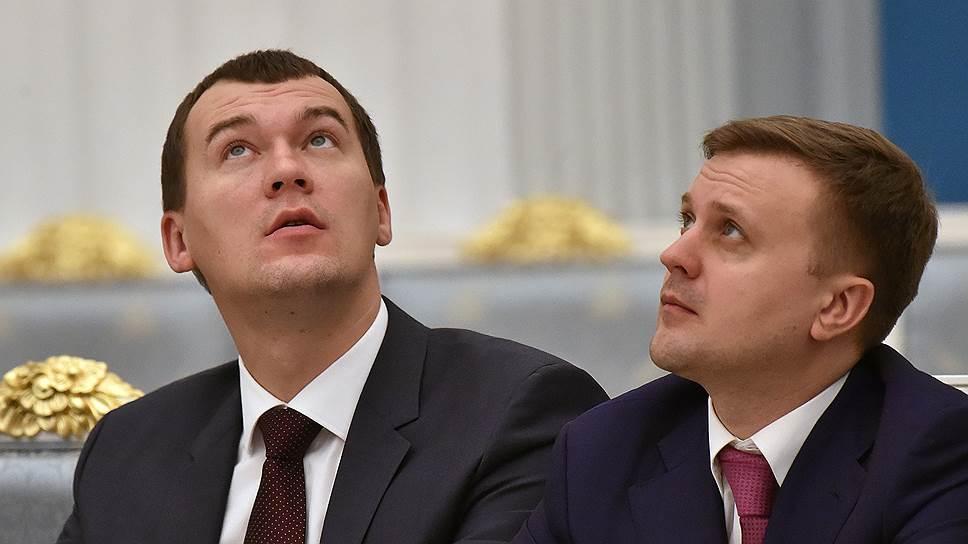 Депутаты Госдумы от ЛДПР Михаил Дегтярев (слева) и Алексей Диденко