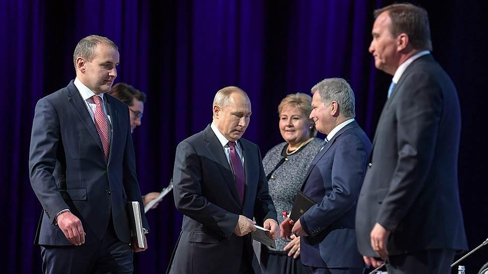 На Пленарном заседании Арктического форума наблюдалось невиданное скопление лидеров европейских государств