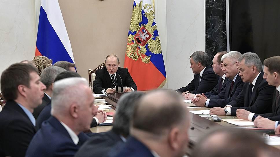 Владимир Путин на заседании Совета безопасности исправлял вечные ошибки космоса