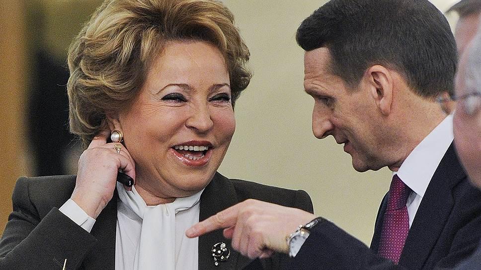 Валентина Матвиенко может передать свои парламентские дела Сергею Нарышкину