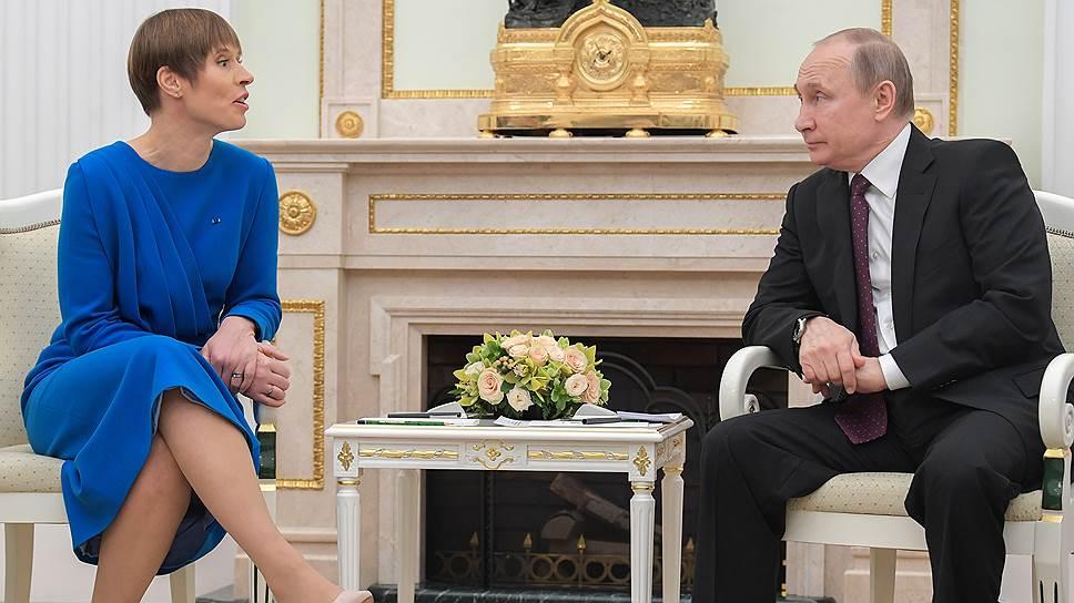 На встрече с президентом России президент Эстонии была добра и весела и чуть менее сверх меры откровенна