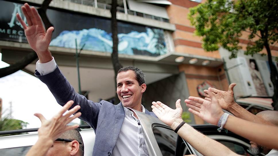 Самопровозглашенный президент Венесуэлы Хуан Гуайдо