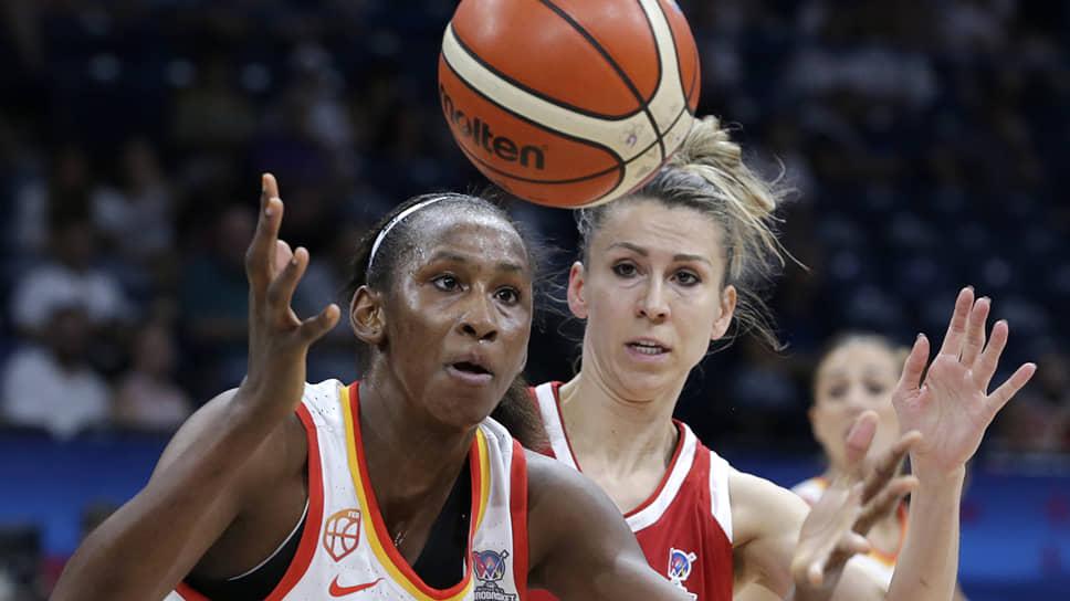 Российские баскетболистки не смогли нейтрализовать лидера сборной Испании Асту Ндур, которая набрала 24 очка и сделала 12 подборов