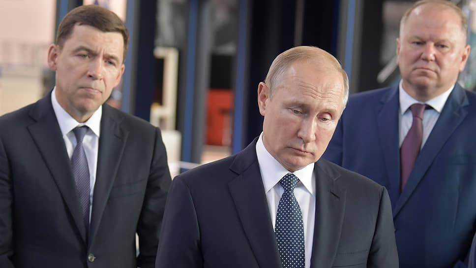 На «Иннопроме-2019» губернатор Свердловской области Евгений Куйвашев был смиренным, а президент России Владимир Путин — только казался