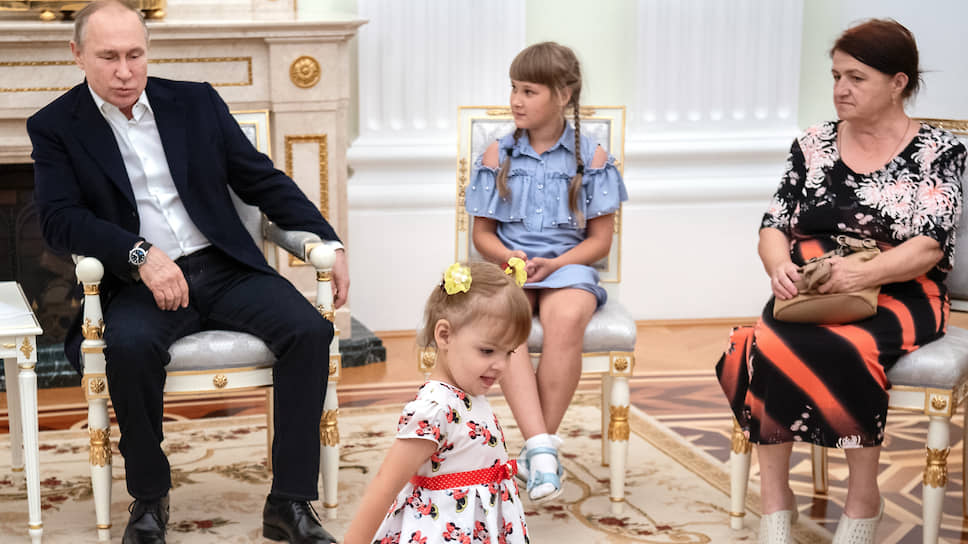 Девочка не стеснялась присутствия президента