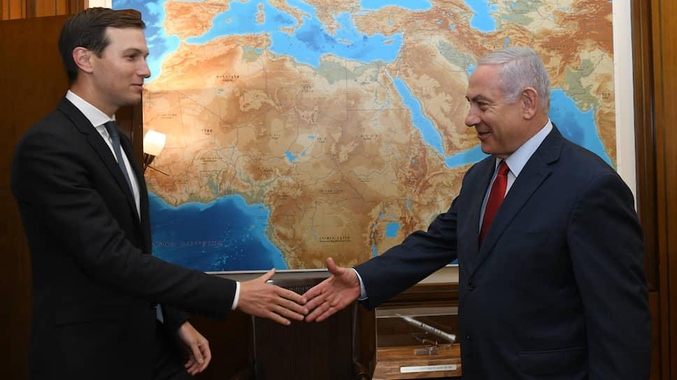 Премьер-министр Израиля Биньямин Нетаньяху (справа) и Советник президента США Дональда Трампа Джаред Кушнер
