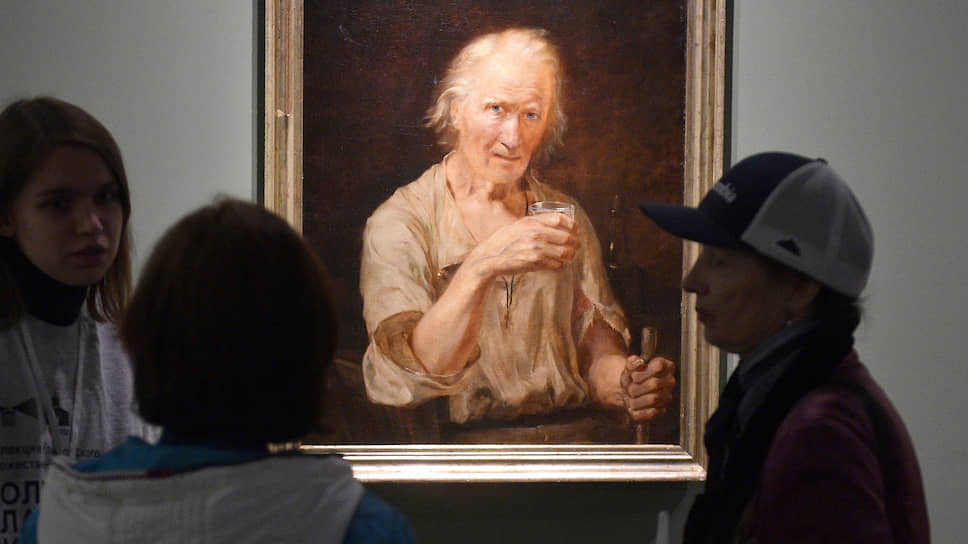 «Старик со стаканом» Василия Худякова (1841) — одно из украшений московского показа ульяновской коллекции