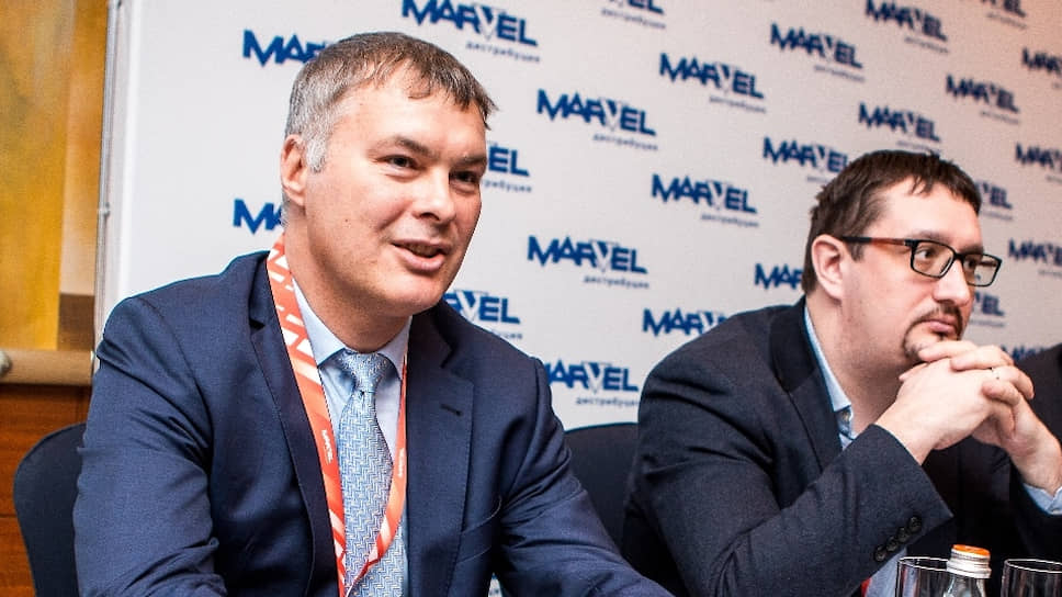 Генеральный менеджер «Марвел-Дистрибуция» Константин Шляхов и гендиректор «Марвел-Дистрибуция» Алексей Мельников